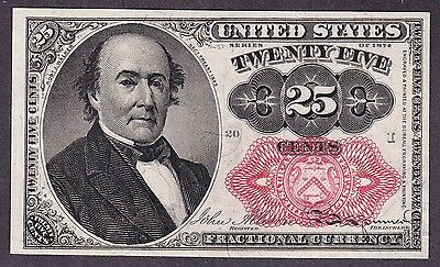 US 25c Fractional Currency 5th Issue FR 1309 Ch CU Position 20 I