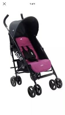 JOIE PINK NITRO STROLLER/BUGGY/PUSHCHAIR With Raincover