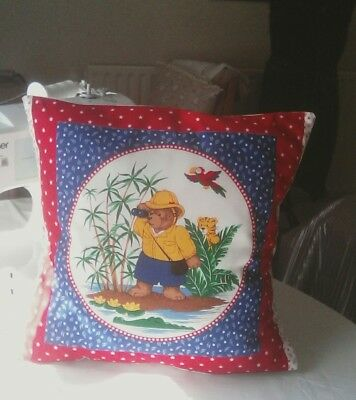 Teddy on Safari nursery/child's cushion cover