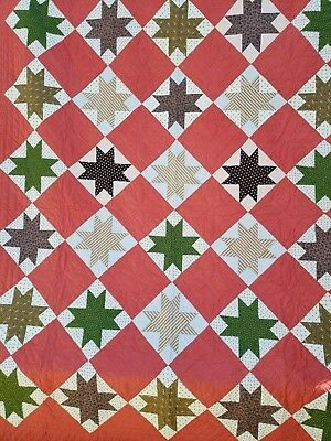 Antique 19th century Quilt Star Variant Early Quilt Crisp PA Collector's Estate