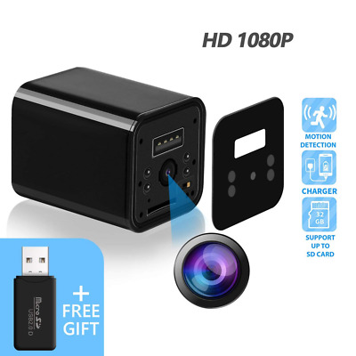 Hidden Camera Spy Adapter 1080P HD USB Charger, Motion Detection Loop Record HOT