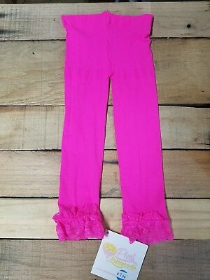 Brand New Toddler Girls Boutique Neon Pink  Footless Tights 2t