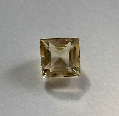Citrine Gemstone Square Cut 6 mm  Natural Citrine