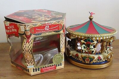 Mr. Christmas Special Edition Musical Christmas Carousel 42 Songs Works Great