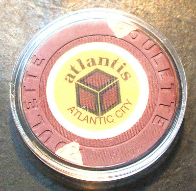 Atlantis Hotel CASINO ROULETTE CHIP -1984 - ATLANTIC CITY, New Jersey -Brown - B