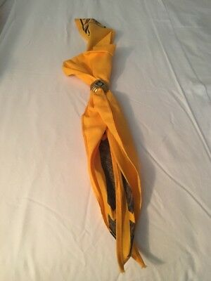 Vintage CUB SCOUT SCARF And NECKERCHIEF SLIDE