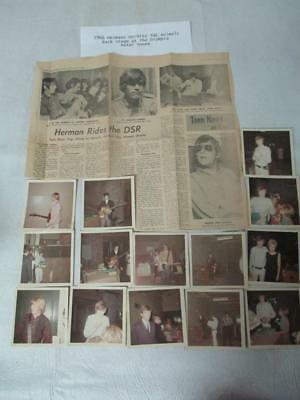 Lot of Vintage Photos of Herman's Hermits & the Animals +Newpaper Chipping