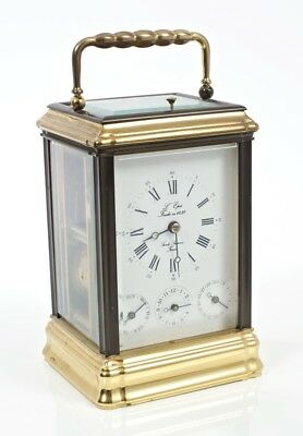 Beautiful L'epee Gorge Complication Carriage Clock with Original Face & Key