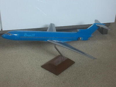 Braniff Airlines 727 Wooden Model with Stand