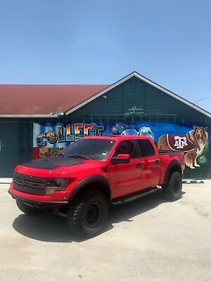 2014 Ford F-150 SVT RAPTOR 2014 Ford Raptor With Off Road Upgrades RED 100,000 Mile Factory Warranty