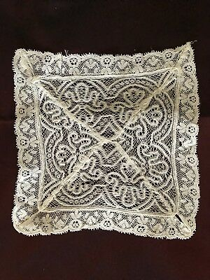 Lot of two ANTIQUE  DOILIES NEEDLE LACE and CROCHET
