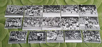 RUGBY UNION ORIGINAL PRESS PHOTO SELECTION - Fifteen from 1980s mainly 5 Nations
