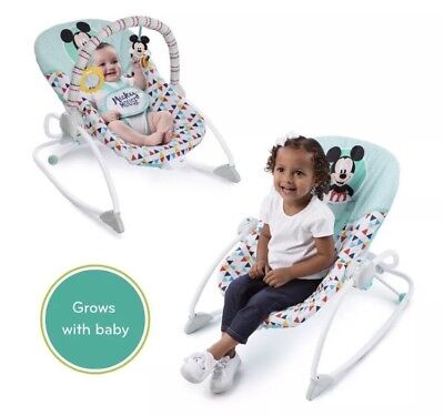 Disney Baby Mickey Mouse Happy Triangles Infant to Toddler Rocker Seat
