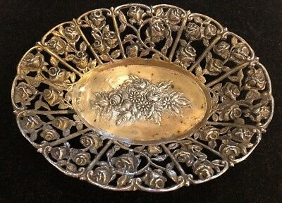 Ornate Antique 800 HAZCREIM ISRAEL Silver Tray Dish Bowl. Weigh 149 Grams