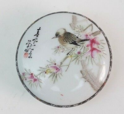 Antique Chinese porcelain seal Paste box