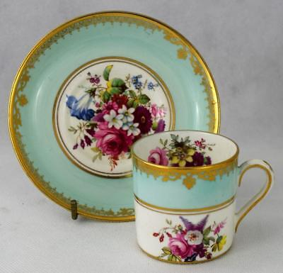 Antique Coffee Cup & Saucer F. Howards Floral Sprays ~ T Goode Hammersley?