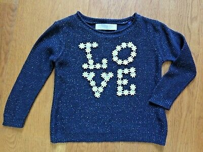 Guess Los Angeles Joli Pull Broderies/paillettes Taille 18 Mois Impeccable!