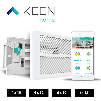 New Keen Home Smart Vents (Latest Version) - KHSV Sizes: 4x10, 4x12, 6x10, 6x12