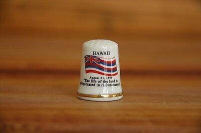 Hawaii Porcelain Thimble Brand New Made by Finact Collectibles