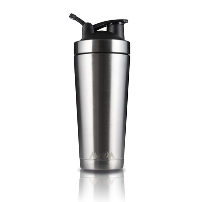 Stainless Steel Protein Shaker Bottle Double Wall Vacuum Insulated Sports Cup US