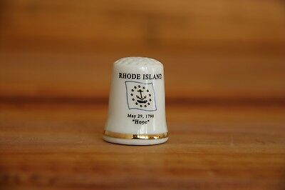 Rhode Island Porcelain Thimble Brand New Made by Finact Collectibles