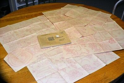 Vintage Workbasket Iron-on Embroidery Transfers 5 sheets