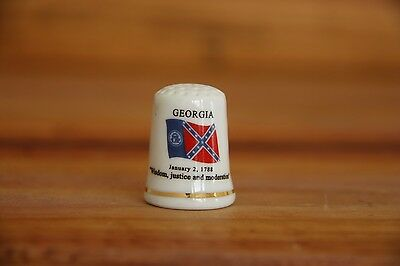 Georgia Porcelain Thimble Brand New Made by Finact Collectibles