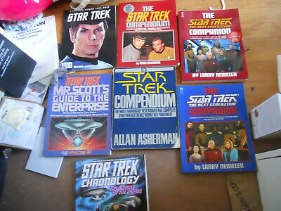 Star Trek  Chronology & Compendium Softcover Books - 7 Book Lot