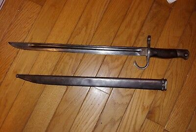 Japanese Type 30 Hoten Zoheisho Arsenal Mukden Wwii Bayonet With Metal Scabbard