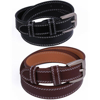 Buckle Pin Faux Leather 120cm*2.3cm Waist Strap Waistband Women Belt Belts