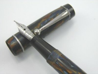 Vintage early 20th century Art Deco marbled bakelite ink fountain pen