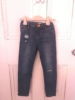 Girls River Island Jeans Aged 7 Ripped