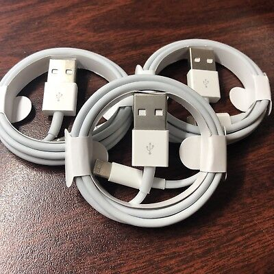 3X Genuine Original OEM Apple iPhone X 8 7 6S plus 5 Lightning USB Cable Charger