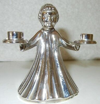 Angel Lights by Wm. A. Rogers, Silver plate Angel Candle Holder, 011 4970