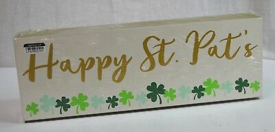 St. Patricks Day Happy St. Pats Tabletop Sign