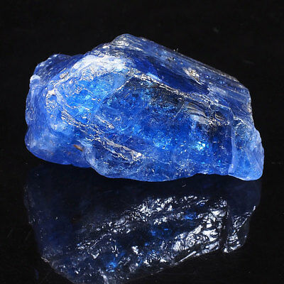 172 Cts ~Certified ~Rare Huge Natural Tanzanite Rough Vibrant Blue Museum Piece