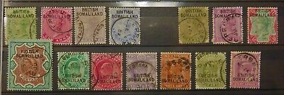 British Somaliland India used abroad  Used  QV-EVII to 3 Rupee becoming scarce