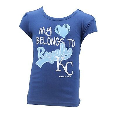 e2df3feae63 Kansas City Royals MLB Genuine Infant Toddler Girls Size T-Shirt New with  Tags