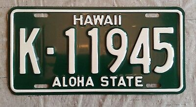 1961 - 1968 Issued Hawaii Aloha State License Plate Tag K 11945