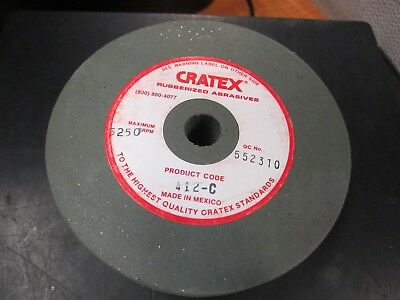 "Cratex 412C 4"" x 1/2 "" Hole x 3/4"" Thick, Rubber Bond Surface Grinding Wheel"