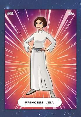 Topps Star wars Card Trader Forces of Destiny Wave2 Princess Leia Galaxy Variant