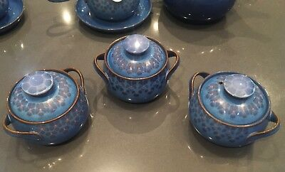 3 x Denby Midnight small tureen petite casserole mini serving dish lid stoneware