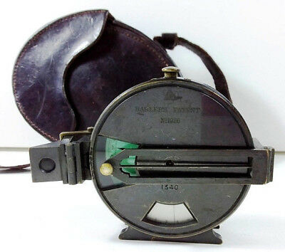Barker's Patent Combined Prismatic Compass & Clinometer with Leather Case- c1890