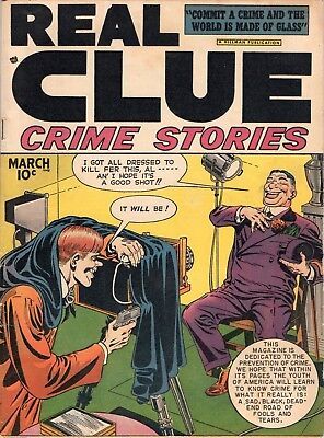 Real Clue Crime Stories Comic Vol. 3 Number 1 Hillman 1948 vg+