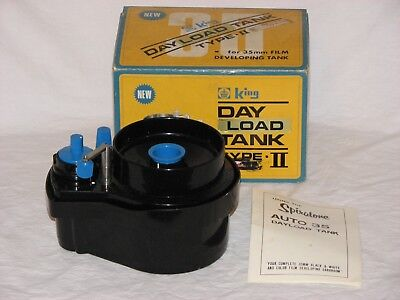 Vintage King Day-Load Tank for 35mm Film Developing with Box and Instructions