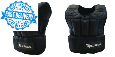 Surreal Adjustable Weighted Vest 5/10/15/20/30KG for Weight Loss Running...