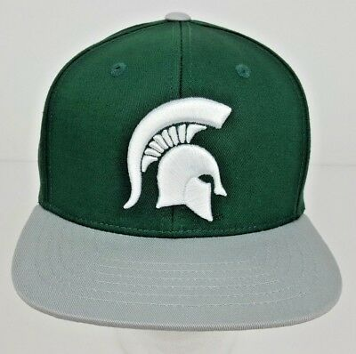 quality design e29f7 6354e Michigan State Spartans YOUTH Green Adjustable Snapback Hat w  3D Logo NWT