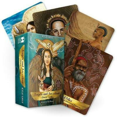 Angels and Ancestors Oracle Cards: A 55-Card Deck and Guidebook by Kyle Gray Fre