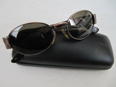 Versace Snglasses MOD S50 COL 53M  Brown Black with Medusa  UNIQUE GOOD COND.