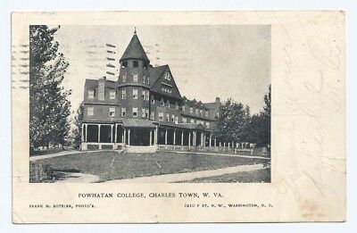 Charles Town WV * Powhatan College  1910 * Young Woman's College Postcards